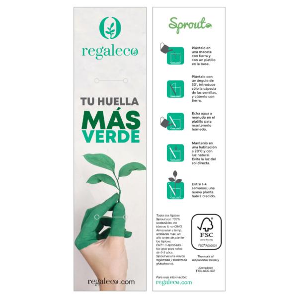 Tarjeta presentación personalizada Regaleco lápiz Sprout