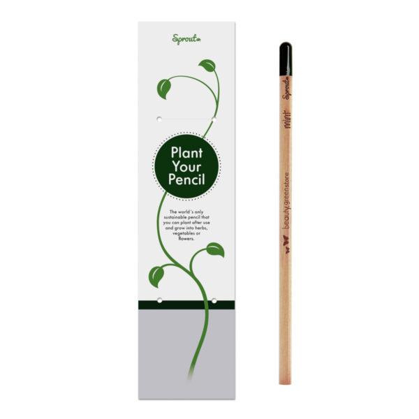 Lápiz Sprout con semillas y tarjeta personalizada