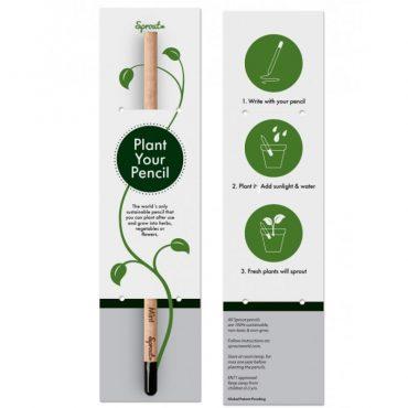 Tarjeta para lápiz semilla