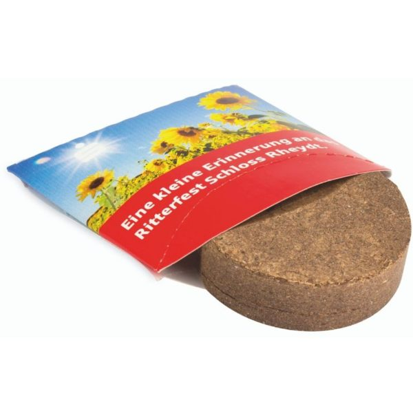 Caja publicitaria con kit de siembra