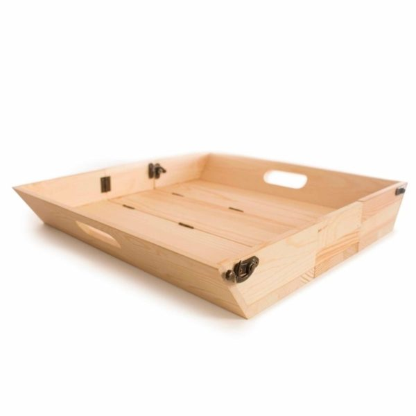 Caja de madera FSC para regalo botella vino y bandeja 5