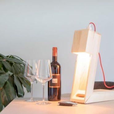 Caja botella vino madera fsc lampara 1