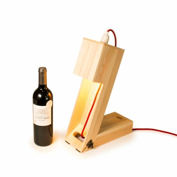 Caja madera fsc regalo botella vino y lampara 4