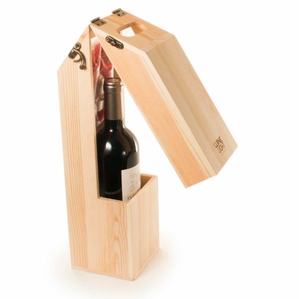 Caja madera fsc regalo botella vino y lampara 6