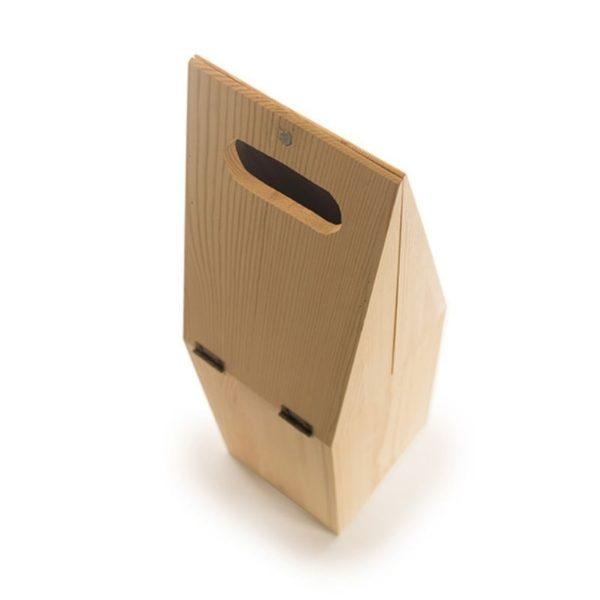 Caja madera fsc regalo botella vino y cubitera 7
