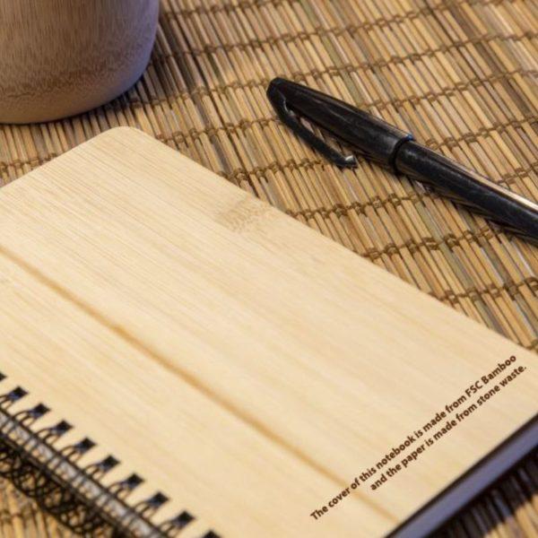 Cuaderno bambú y papel piedra 1
