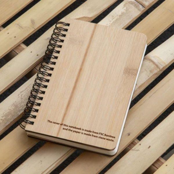 Cuaderno bambú y papel piedra